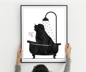 etsy, bathroom decor, and newfoundland dog image