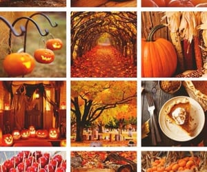 aesthetic, fall, and spooky image