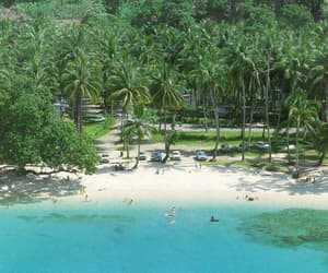 beautiful, bougainville, and lagoon image