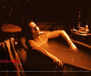 actor, bath, and dark image