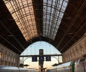 budapest, train, and railwaystation image