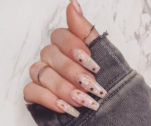nails, stars, and glitter image