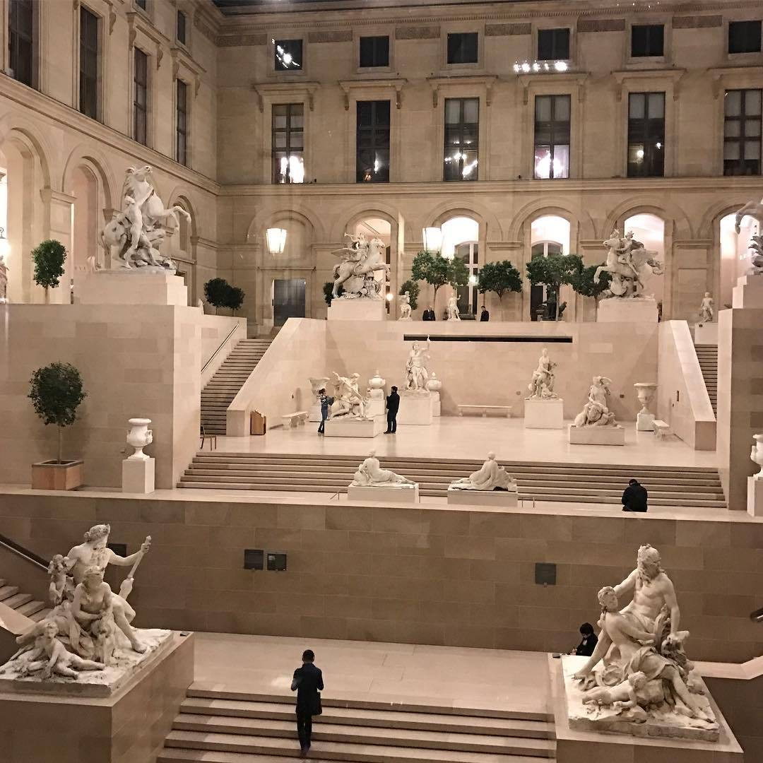 architecture, museum, and sculptures image