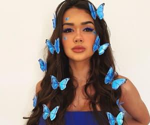 beauty, borboleta, and makeup image