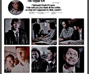 dean winchester, edit, and instagram edit image