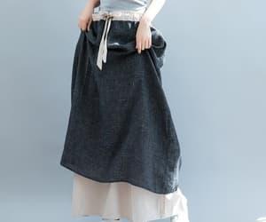 etsy, a line skirt, and full length skirt image