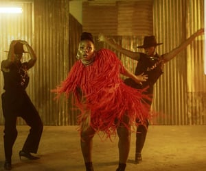 African, orange, and dance image