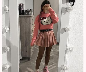fashion, girl, and hello kitty image