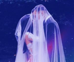 aesthetic, blue, and wedding image