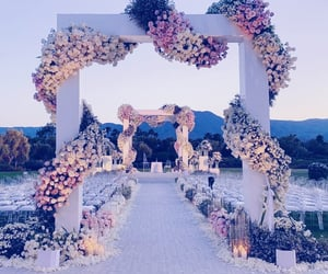 wedding, flowers, and marriage image
