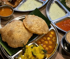 indian food, mint, and dosa image