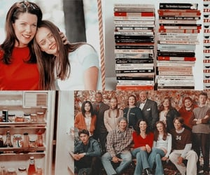 gilmore girl, layout, and red image