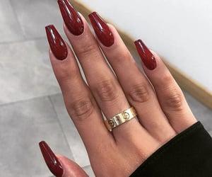 fake nails, nails, and motif nails image
