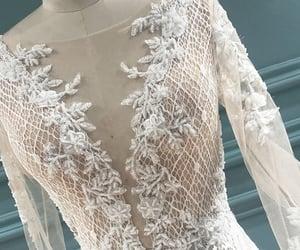 wedding day, wedding dress, and bridal dress image