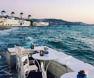 breakfast, Greece, and santorini image