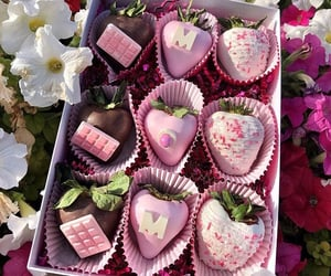 arrangements, chocolate, and colorful image