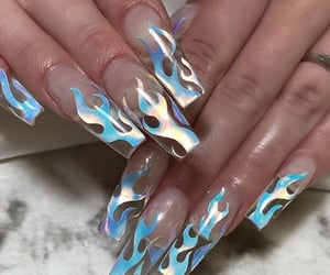 aesthetics, claws, and fire image