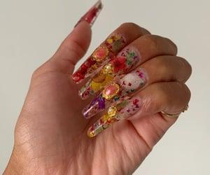 acrylic, tips, and nail gems image