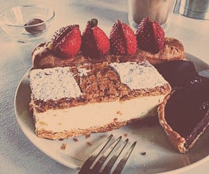 bakery, pastry, and strawberry image