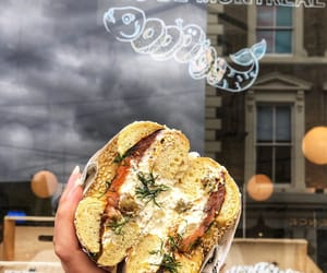 """The Good Egg on Instagram: """"That classic lox   schmear 🤤🤤🤤 Pastrami-cured trout, lemony schmear, dill   capers inside a sesame Montreal bagel   only available in…"""""""