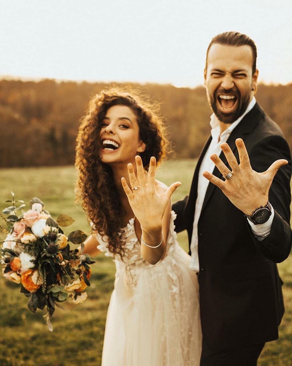 bride, wedding dress, and wedding photo image