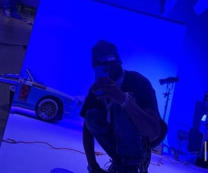 blue, vibes, and cyber ghetto image