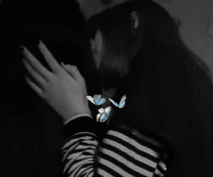 butterflies, couples, and lesbian image