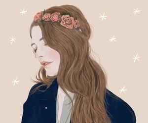 rose, coroa de flores, and art image