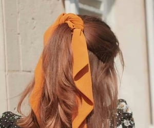 hairstyle and orange image