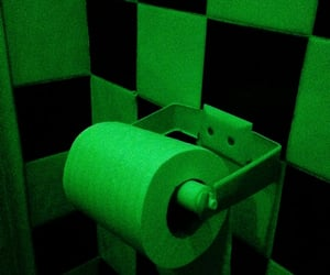 bathroom, checkered, and green image