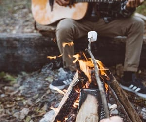 adventure, campfire, and camping image