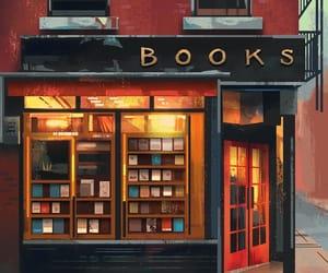 book, illustration, and shop image
