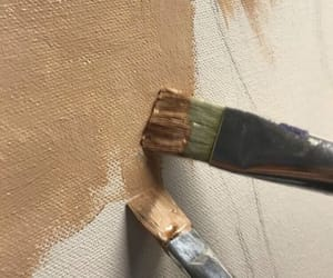 aesthetic, paint, and brown image