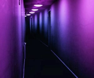 aesthetic, blue, and hallway image