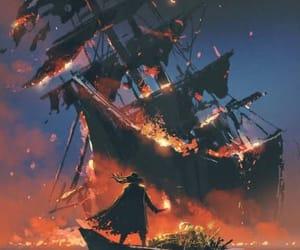 огонь, красиво, and лодка image