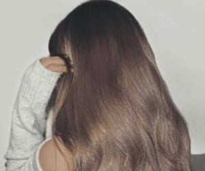 brown, straight, and brunette image