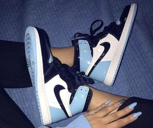 nike, sneakers, and blue image