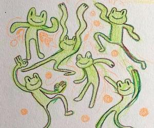 aesthetic, kawaii, and frog image