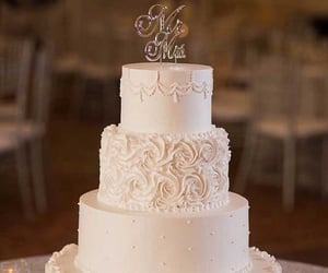 cake, beautiful, and wedding image