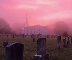 pink, aesthetic, and cemetery image