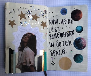 aesthetic, glitter, and journal image