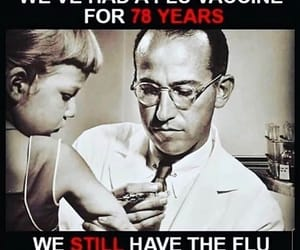 vaccine, the flu, and wake the fuck up image