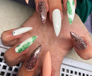 long, long nails, and sparkle image