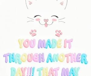 encouragement, inspiration, and kitten image