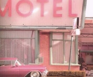 60s, car, and motel image