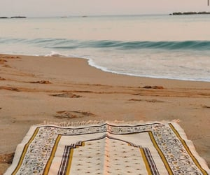 beach, islam, and deen image