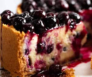 blueberry, cheesecake, and dessert image