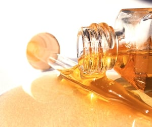 gold, skincare, and golden image