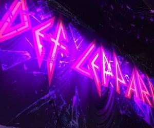 band, Logo, and neon image