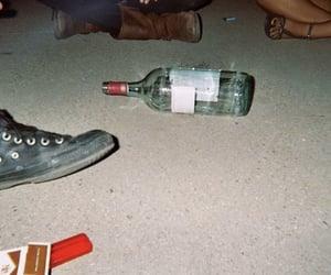 grunge, bottle, and cigarette image